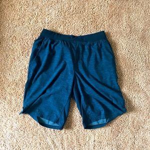 "blue lululemon T.H.E. 11"" inch shorts"